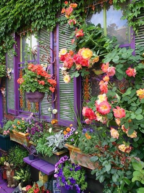 เพิ่มความคลาสสิกให้สวนสวยด้วยบานประตูไม้เก่า รูปที่ 5