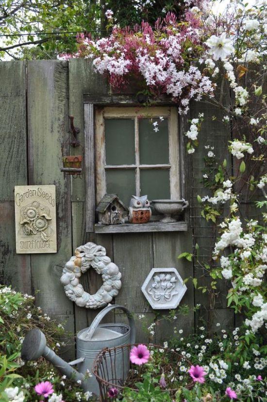 เพิ่มความคลาสสิกให้สวนสวยด้วยบานประตูไม้เก่า รูปที่ 6