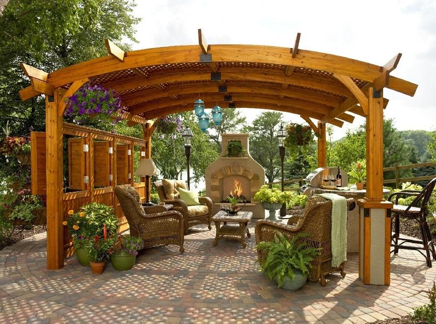 15 ไอเดียซุ้มระแนงไม้เพิ่มความสวยงามให้สวนในบ้าน รูปที่ 9