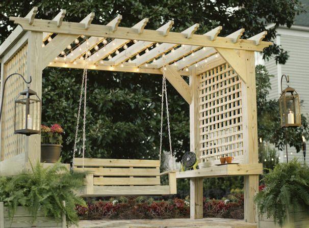 15 ไอเดียซุ้มระแนงไม้เพิ่มความสวยงามให้สวนในบ้าน รูปที่ 12