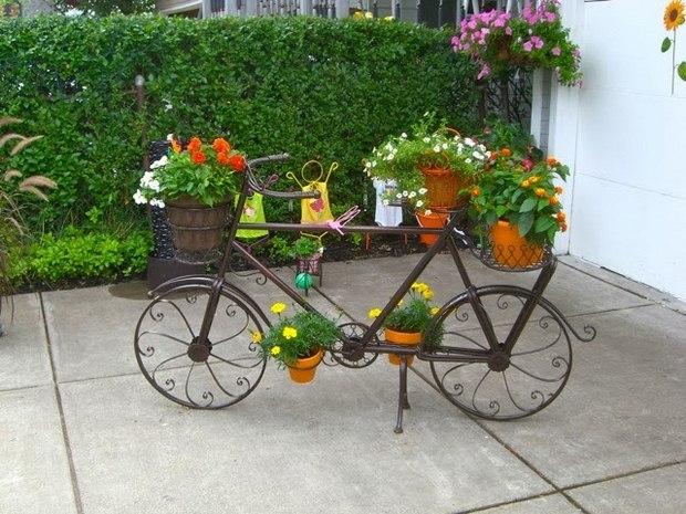 แปลงร่างจักรยานเก่าให้เป็นที่ปลูกดอกไม้สุดชิค รูปที่ 3