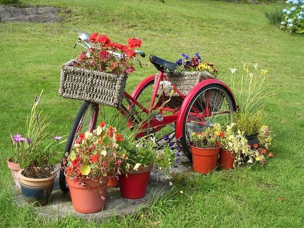 แปลงร่างจักรยานเก่าให้เป็นที่ปลูกดอกไม้สุดชิค รูปที่ 5