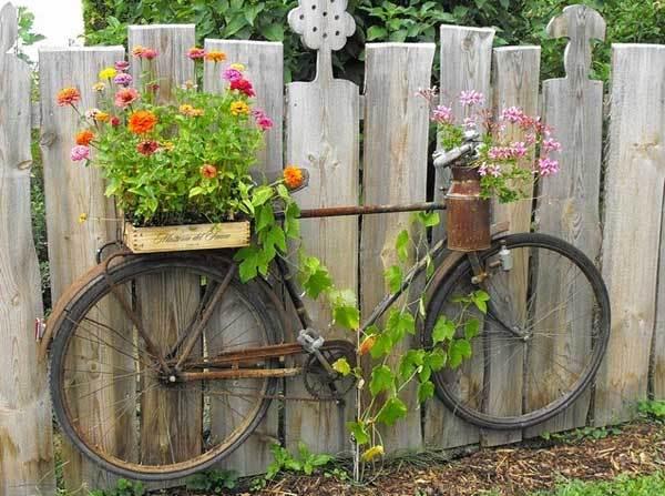 แปลงร่างจักรยานเก่าให้เป็นที่ปลูกดอกไม้สุดชิค รูปที่ 8