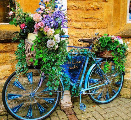 แปลงร่างจักรยานเก่าให้เป็นที่ปลูกดอกไม้สุดชิค รูปที่ 10