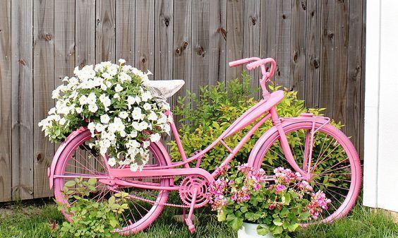 แปลงร่างจักรยานเก่าให้เป็นที่ปลูกดอกไม้สุดชิค รูปที่ 13