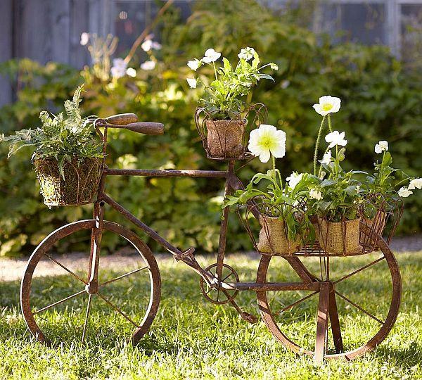 แปลงร่างจักรยานเก่าให้เป็นที่ปลูกดอกไม้สุดชิค รูปที่ 15