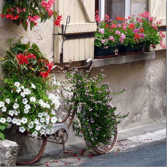 แปลงร่างจักรยานเก่าให้เป็นที่ปลูกดอกไม้สุดชิค รูปที่ 17
