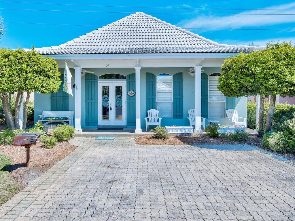 บ้านคอทเทจชั้นเดียว ตกแต่งด้วยสีสันสดใส ขนาด 3 ห้องนอน 2 ห้องน้ำ รูปที่ 2