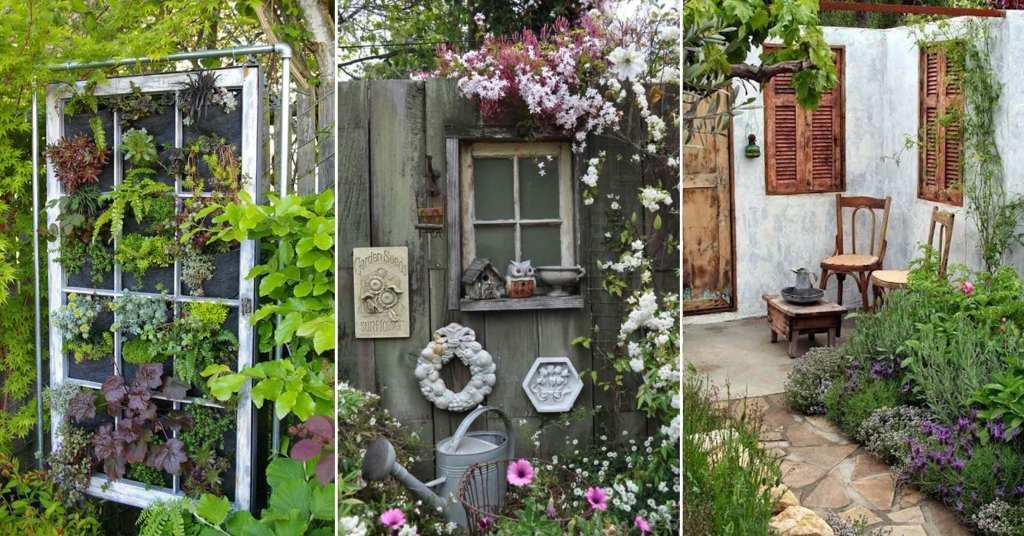 เพิ่มความคลาสสิกให้สวนสวยด้วยบานประตูไม้เก่า