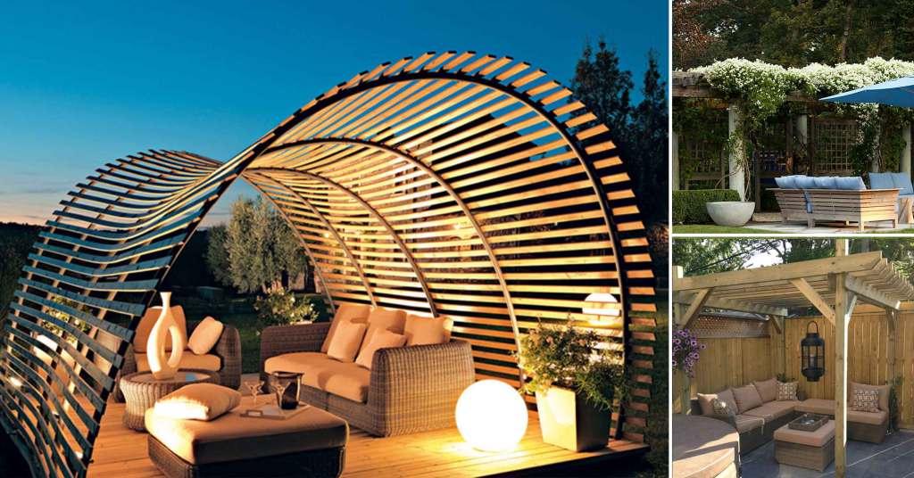 15 ไอเดียซุ้มระแนงไม้เพิ่มความสวยงามให้สวนในบ้าน