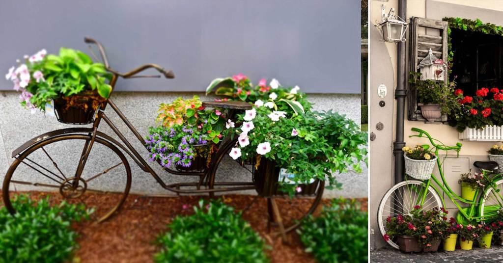 แปลงร่างจักรยานเก่าให้เป็นที่ปลูกดอกไม้สุดชิค