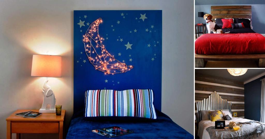 20 ไอเดียการตกแต่งหัวเตียงแบบ D.I.Y เพื่อให้ความสวยงามแก่ห้องนอน