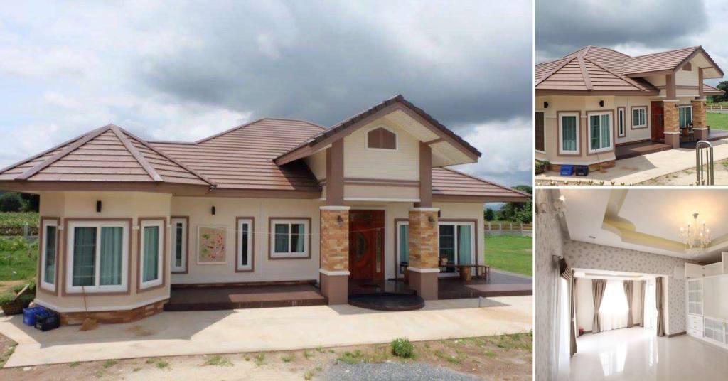 บ้านสไตล์คอนเท็มโพลารี่ ภายในตกแต่งหรูหรา ขนาด 200 ตารางเมตร ในงบ 2.5 ล้านบาท
