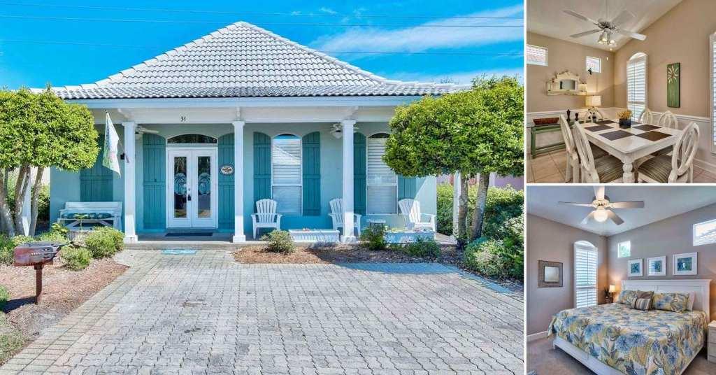 บ้านคอทเทจชั้นเดียว ตกแต่งด้วยสีสันสดใส ขนาด 3 ห้องนอน 2 ห้องน้ำ รูปที่ 1