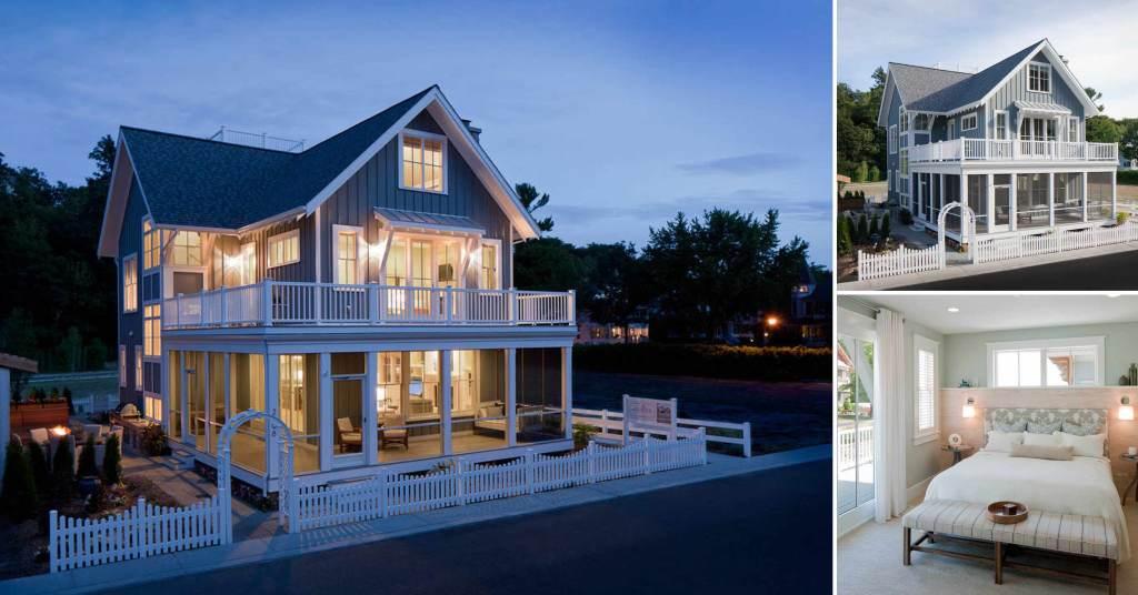 บ้านสวย 3 ชั้น สไตล์คอทเทจ สวยหรูหราอลังการ    รูปที่ 1