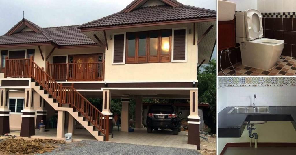 บ้านสไตล์ไทยประยุกต์  2ห้องน้ำ 2ห้องนอน ในบรรยากาศแบบไทยๆ ด้วยงบก่อสร้างเริ่มต้นที่ 900,000 บาท