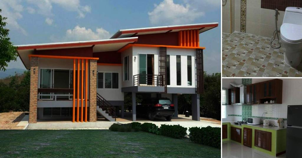 บ้านชั้นครึ่งสไตล์โมเดิร์น 3 ห้องนอน 2 ห้องน้ำ ในงบก่อสร้างเริ่มต้น 1,500,000 บาท