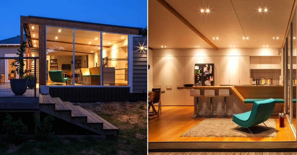 บ้านไม้ชั้นเดียวสไตล์โมเดิร์น สวยน่ารักกะทัดรัด และอบอุ่น