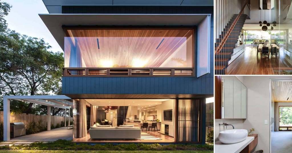 เปิดโล่งโชว์บ้านสวยด้วยผนังกระจกจากสไตล์โมเดิร์น