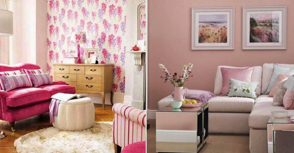 17 ไอเดียตกแต่งห้องนั่งเล่นด้วยสีชมพูสวย สีสันสวยสดใส