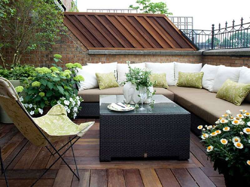 Outdoor Living Room โซนรับแขกแบบเปิดโล่ง รูปที่ 2