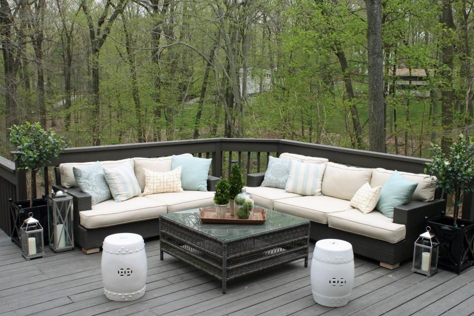 Outdoor Living Room โซนรับแขกแบบเปิดโล่ง รูปที่ 10