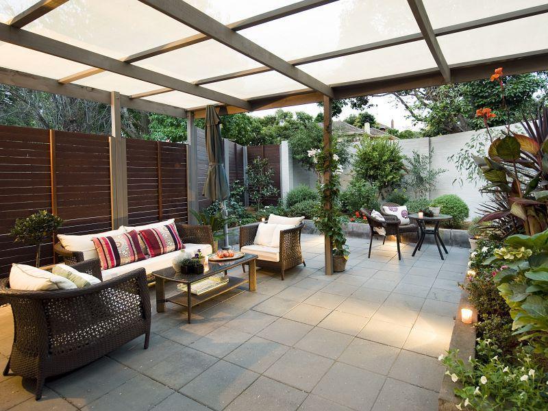 Outdoor Living Room โซนรับแขกแบบเปิดโล่ง รูปที่ 13