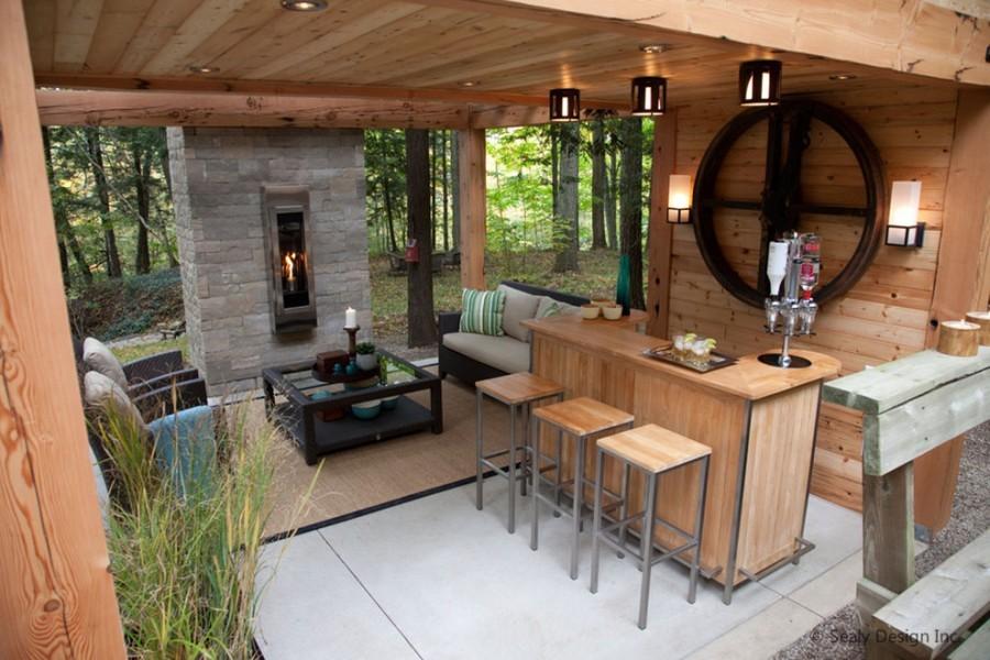 Outdoor Living Room โซนรับแขกแบบเปิดโล่ง รูปที่ 14
