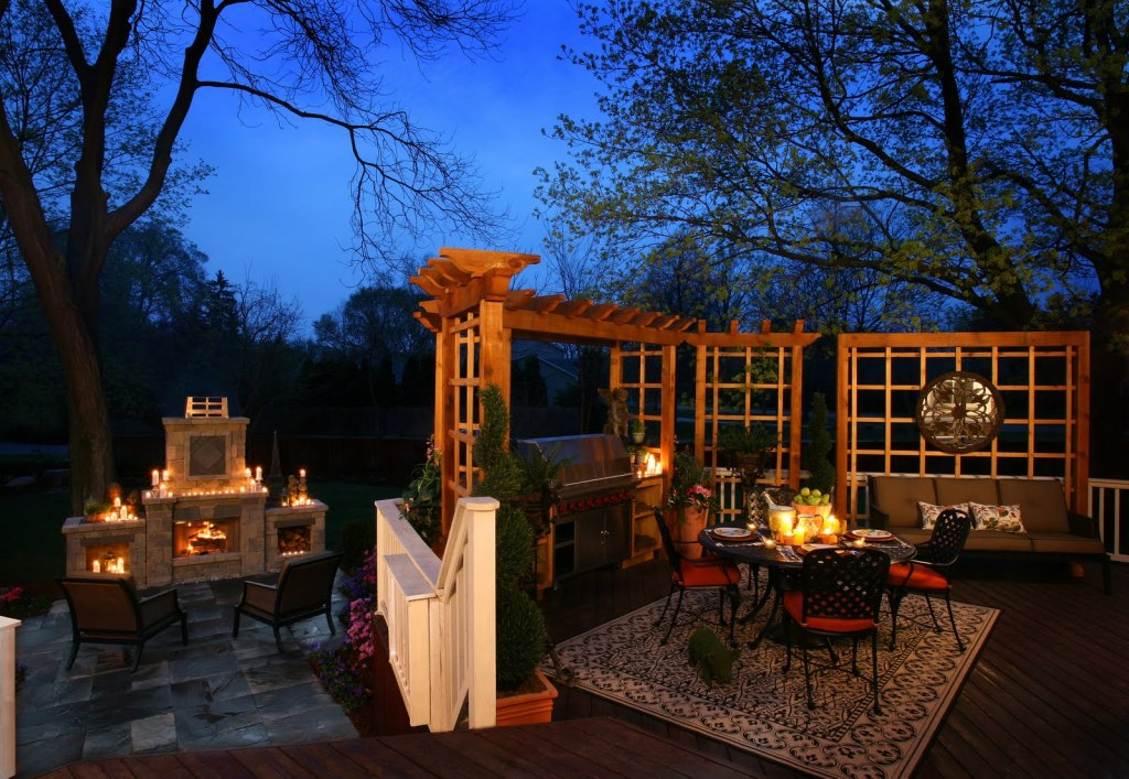 Outdoor Living Room โซนรับแขกแบบเปิดโล่ง รูปที่ 18