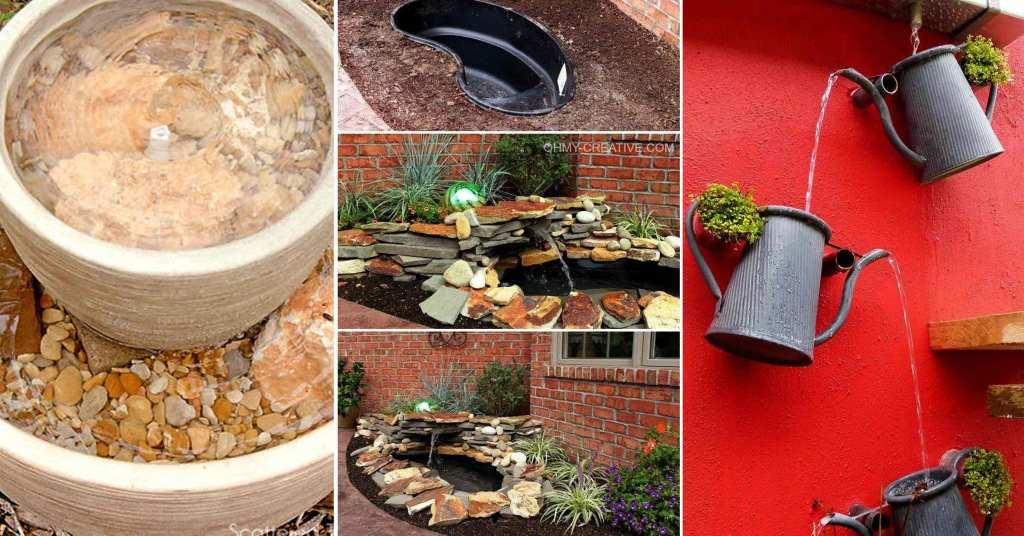 DIY ไอเดียการทำอ่างน้ำและน้ำพุแต่งสวนด้วยตัวเอง