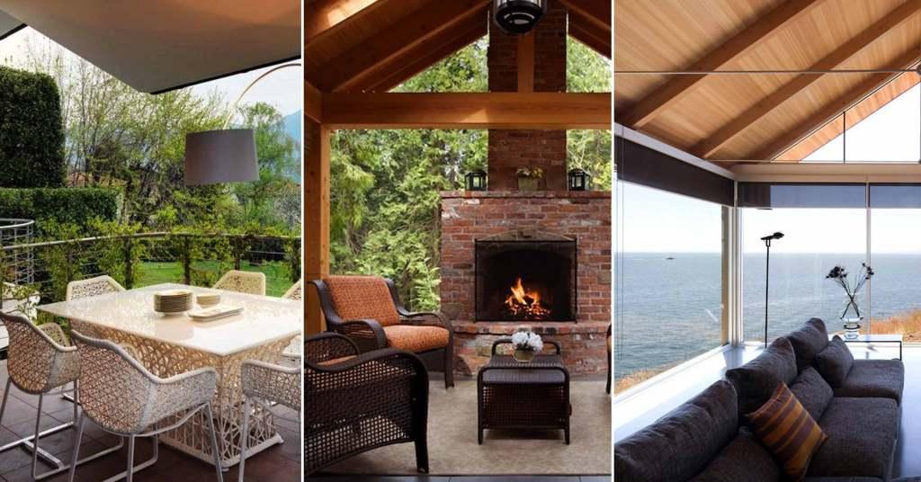 Outdoor Living Room โซนรับแขกแบบเปิดโล่ง รูปที่ 1