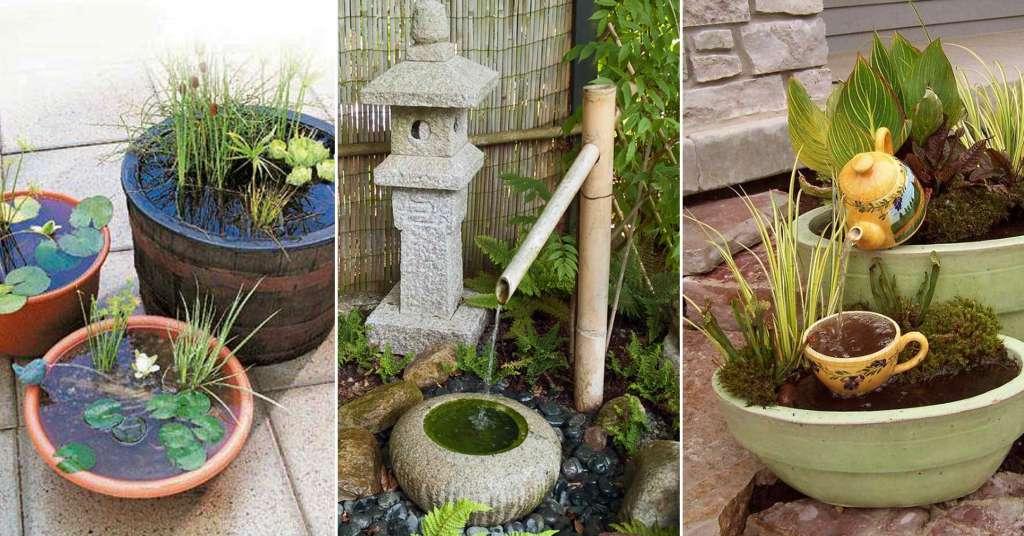 """รวมไอเดีย """"บ่อน้ำขนาดเล็ก"""" ในสวนหน้าบ้าน เพิ่มความสดชื่นให้กับบ้านของคุณ"""