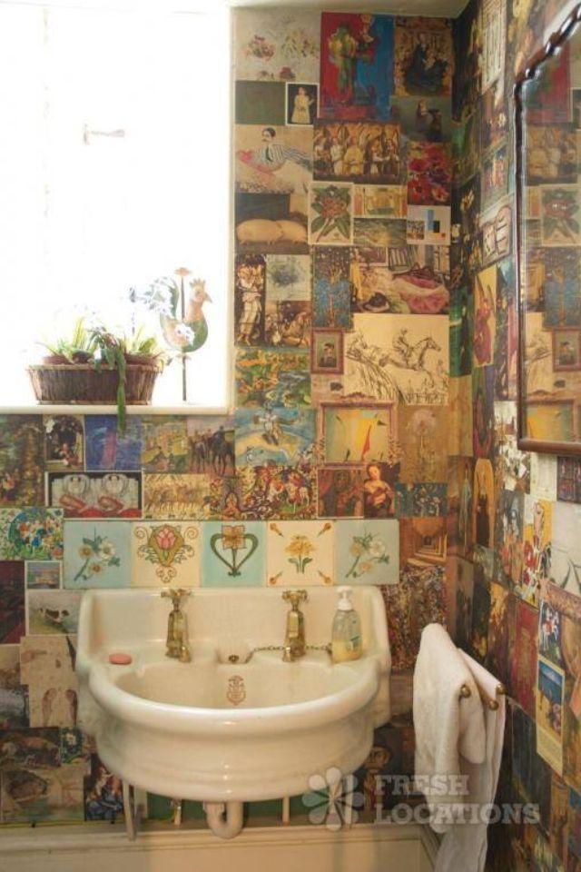 รวมหลากไอเดียแต่งห้องน้ำสุดบรรเจิด ด้วยสารพัดของสะสม รูปที่ 6