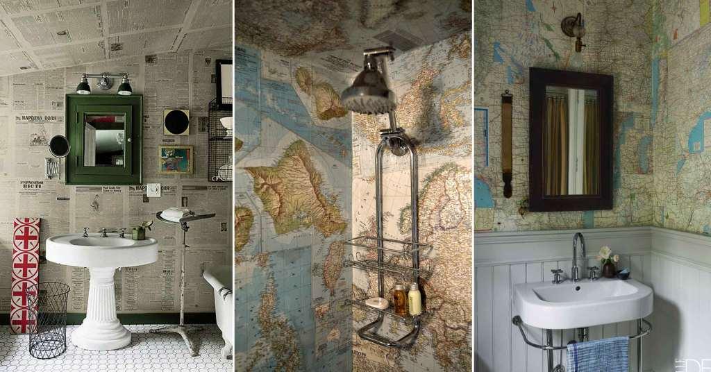 รวมหลากไอเดียแต่งห้องน้ำสุดบรรเจิด ด้วยสารพัดของสะสม รูปที่ 1