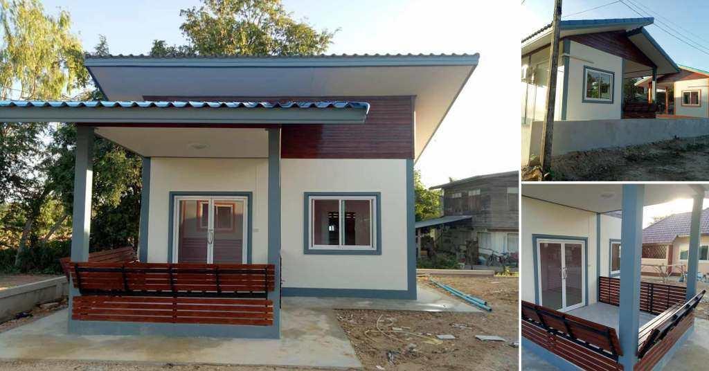 แบบบ้านหลังเล็กสร้างง่ายอยู่ง่ายเหมาะสำหรับคนอยู่คนเดียว ในงบที่ไม่บานปลาย 1 ห้องนอน 1 ห้องน้ำ ด้วยงบ 170,000 บาท