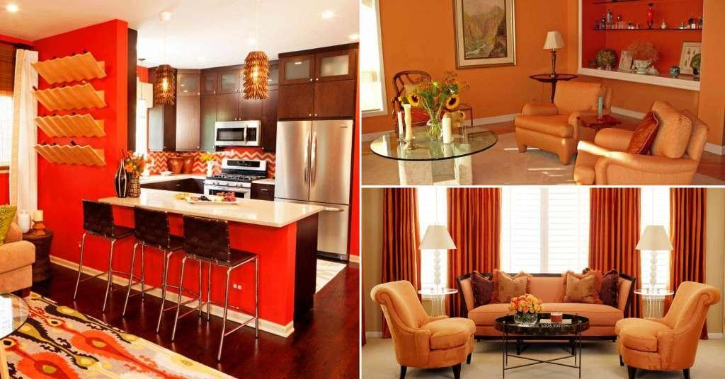 20 ไอเดียห้องนั่งเล่นสีส้ม สวยด้วยสีสันสดใส
