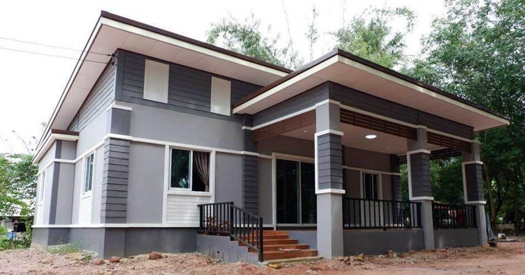 บ้านชั้นเดียวสไตล์โมเดิร์น โทนสีสุดเท่ น่าพักผ่อน ด้วยงบแค่ 410,000 บาท (รวมค่าช่างแล้ว)