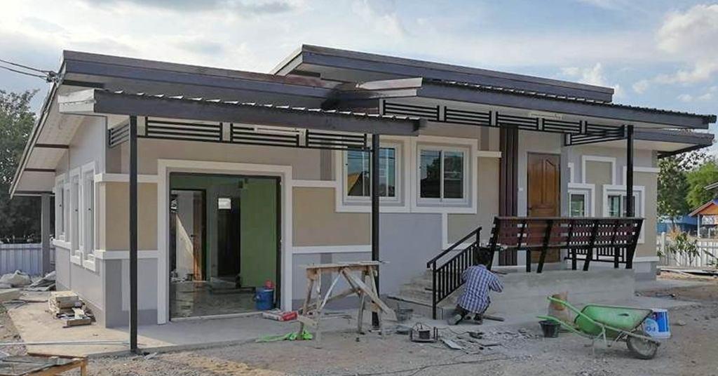 บ้านชั้นเดียวสไตล์โมเดิร์นทรอปิคอล พื้นที่ใช้สอย 80 ตร.ม. ด้วยงบ 600,000 บาท