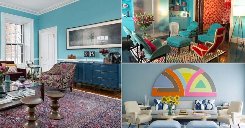 20 ไอเดียห้องนั่งเล่นสีฟ้า สวยสดใส หลากสไตล์ให้เลือกมาใช้งาน
