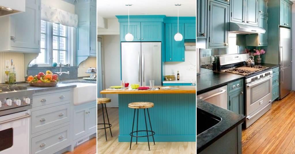 10 ไอเดียการแต่งห้องครัวสีฟ้า เพื่อโลกที่สดใส