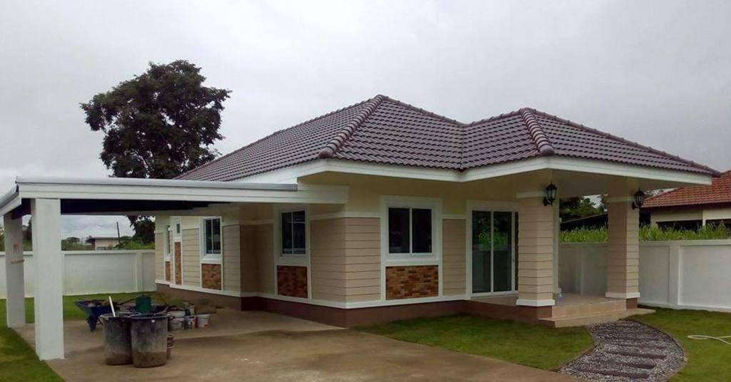 บ้านชั้นเดียวทันสมัย น่าพักผ่อน  3 ห้องนอน 2 ห้องน้ำ  ด้วยงบ 890,000 บาท