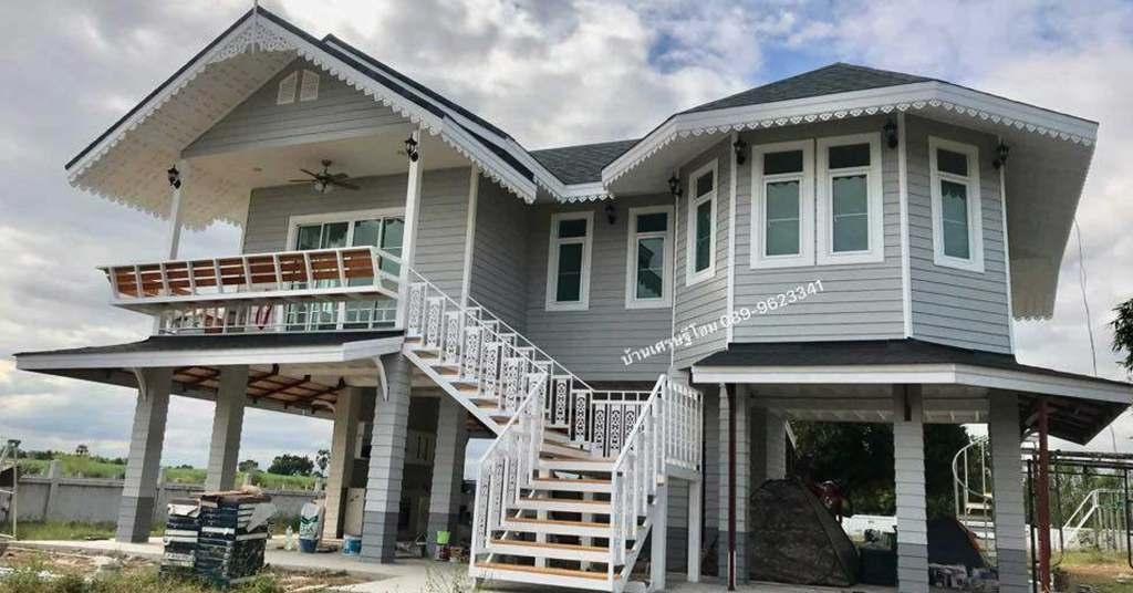 บ้านไม้ยกพื้นสูงสไตล์คลาสสิก สวยโดดเด่นไม่เหมือใคร ด้วยงบ 1,090,000 บาท