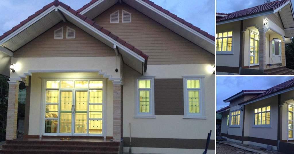 บ้านชั้นเดียว ดีไซน์อบอุ่น ตกแต่งในโทนสีสบายตา 3 ห้องนอน 3 ห้องน้ำ ด้วยงบ 750,000 บาท