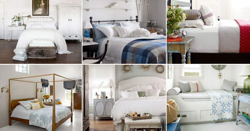 20 ไอเดียห้องนอนสีขาว ผ่อนคลายไปกับห้องนอนสไตล์คันทรี่