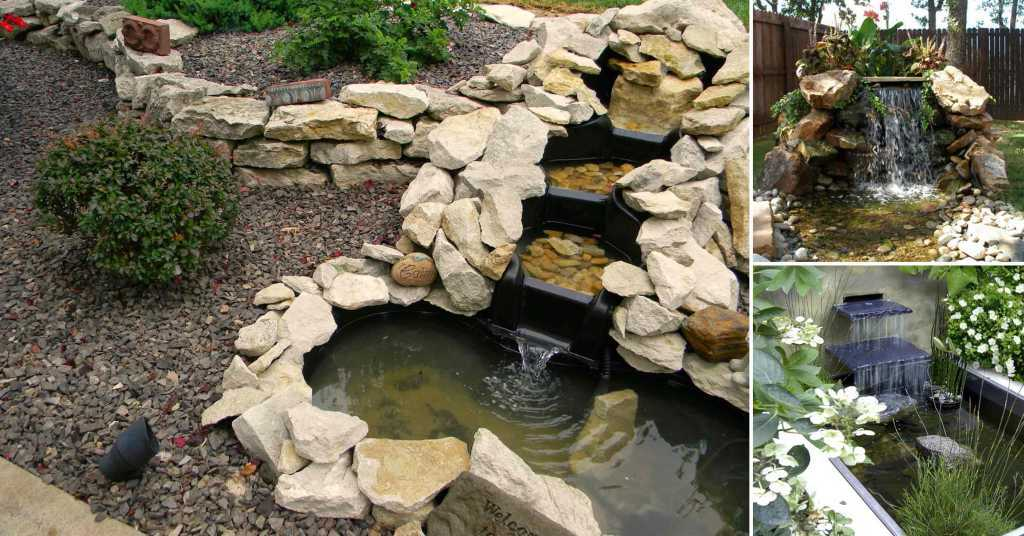 การเพิ่มความสดชื่นให้สวนในบ้านด้วยน้ำตกจากวัสดุต่าง ๆ