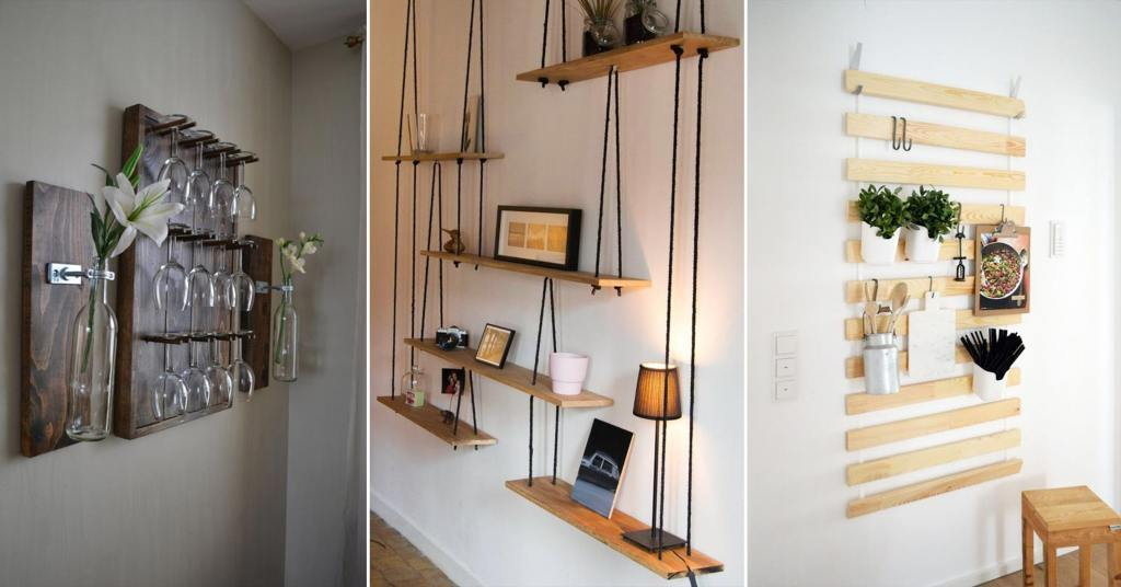 DIY อุปกรณ์ติดผนังเพื่อใช้สำหรับตกแต่งและวางของสร้างมุมน่ารักให้กับบ้าน