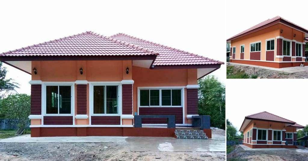 บ้านชั้นเดียวโทนสีอบอุ่น น่าอยู่ โล่งโปร่งสบาย ด้วยงบ  980,000 บาท
