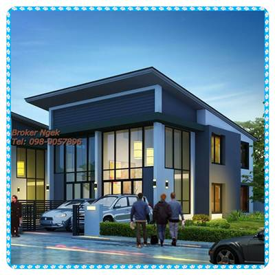 ขายบ้านแฝด 35 ตรว. เดอะแลนด์มาร์คหัวหิน บรรยากาศดี 098-9057896 เง็ก