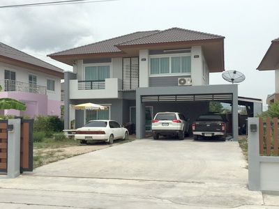 ขายบ้านเดี่ยว 86 ตร.วา หมู่บ้าน แกรนด์เซ็นทรัลพาร์ค4 ต่อเติม บ้านบึง ชลบุรี