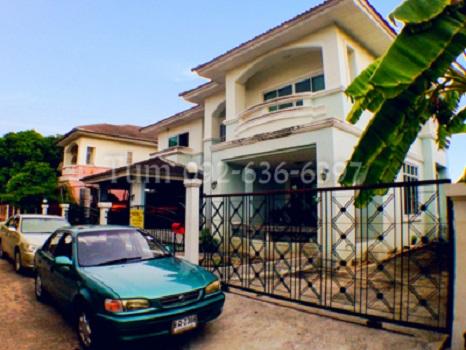 ขายบ้านหลังใหญ่ 2 ชั้น ม.มณีรินทร์ เลค&ลากูน รังสิต-ปทุมธานี  126 ตารางวา